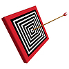 quadratisches Ziel und Pfeil