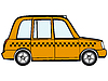 Vector clipart: taxi car