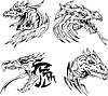 Dragon head Tattoos
