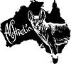 Dingo als australisches Symbol