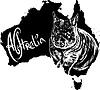 Wombat als australische Symbol