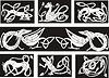 keltische Knot-Mustern mit Tieren