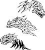 Dinosaur Tattoos | Stock Vektrografik