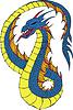 Lange japanese dragon Wurm | Stock Vektrografik