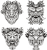 ID 3503030 | Aztec totem maski potworów | Klipart wektorowy | KLIPARTO