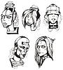 Heads der weiblichen Cyborgs