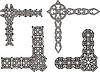 Celtic dekorativen Knoten Ecken