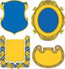 Set Wappenschilde und Kartuschen