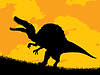 Dinosaur silhouette