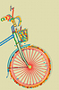 Postkarte mit Fahrrad
