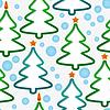 Nahtlose Muster mit Weihnachtsbäume und Schneeflocken