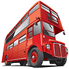 ID 3421326 | Piętrowy autobus w Londynie | Stockowa ilustracja wysokiej rozdzielczości | KLIPARTO