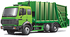 Grüne Müllwagen | Stock Vektrografik
