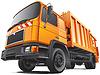 Kompakte Müllwagen | Stock Vektrografik