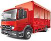 Czerwony samochód dostawczy | Stock Vector Graphics