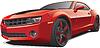 Red muscle car | Stock Vektrografik