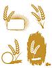 Set mit Weizenähren