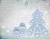 Vintage Christmas Hintergrund mit openwork Baum