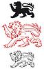 Medieval heraldic lion