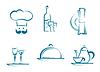 Vektor Cliparts: Restaurant Icons und Symbole