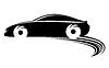 Vektor Cliparts: Fast moving car