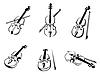 Классическая скрипка инструменты | Векторный клипарт