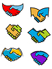 Handshake symbols and icons | Stock Vector Graphics