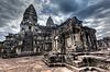 吴哥窟 - 柬埔寨的著名地标 | 免版税照片