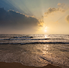 Tropical vacation background - ocean sea sunrise | Stock Foto