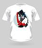 T-Shirt mit Sugar Skull Mädchen
