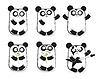 Set von niedlichen Pandas
