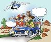 ID 3386938 | Muzyka i komunikacji internetowej w podróży samochodem | Stockowa ilustracja wysokiej rozdzielczości | KLIPARTO