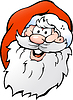 Hand gezeichnet ein Happy Smiling Santa