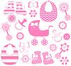 Sammlung für Mädchen-Neugeborene | Stock Vektrografik