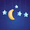 Sterne und Mond als kindisch Hintergrund