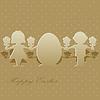 Scherenschnitte von Kindern und Ostereier