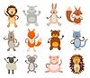 Set von niedlichen Tiere