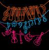 Музыкальные инструменты, клавиши пианино, ноты | Векторный клипарт