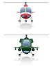 Vektor Cliparts: icons Hubschrauber