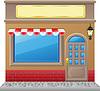 Fassade eines Geschäfts mit Schaufenster