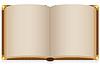alt offenes Buch mit leeren Blatt