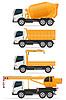Set Icons LKW ausgelegt für Konstruktions