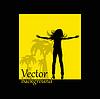 abstrakten Hintergrund Sprung Mädchen Silhouette