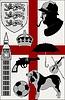 Set von Stereotypen über Großbritannien