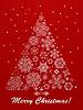 Weihnachtsgruß-Karte mit Tanne
