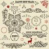Vintage Holiday floralen Design-Elemente und