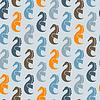 Nahtlose Muster mit Seepferdchen