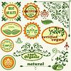 Label und Vintage floralen Design-Elemente