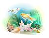 tropischen Unterwasserwelt. Aquarienfische