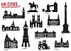 Silhouetten der Städte in Großbritannien